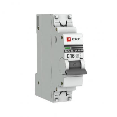 Автоматический выключатель ВА 47-63, 1P 3А (C) 4,5kA EKF PROxima