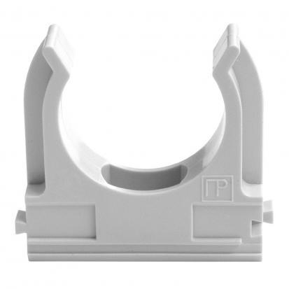 Крепёж-клипса для труб Полистирол д25 (100шт/1000шт уп/кор) Промрукав