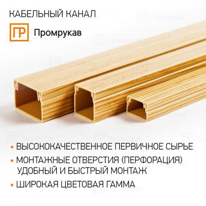 Кабель-канал сосна 2-й замок 20х10 (180м/уп) Промрукав