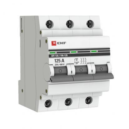 Выключатель нагрузки ВН-125, 3P 100А EKF PROxima