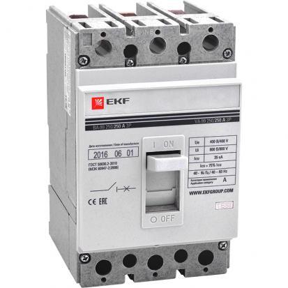 Выключатель автоматический ВА-99 250/250А 3P 35кА EKF PROxima
