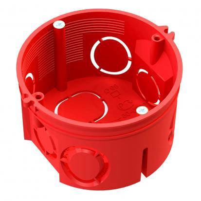 Коробка установочная 80-0501 С безгалогенная (HF) 64х40 с саморезами без соединителя (245шт/кор)
