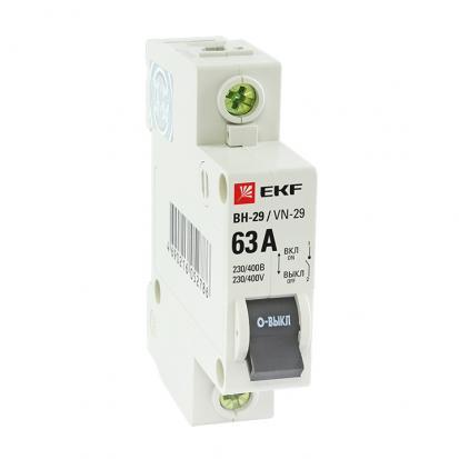Выкл. нагрузки 1P 40А ВН-29 EKF Basic