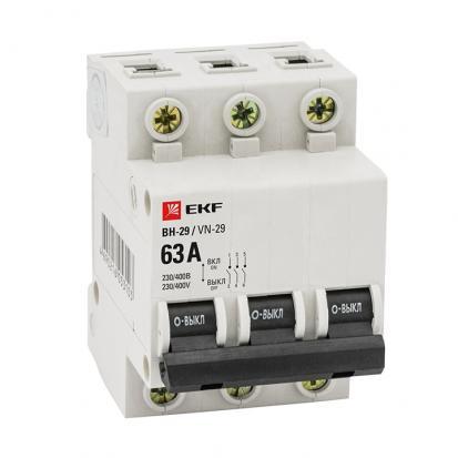 Выкл. нагрузки 3P 25А ВН-29 EKF Basic