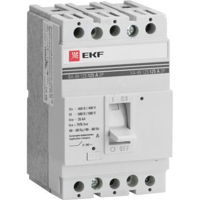 Выключатель автоматический ВА-99 125/25А 3P 25кА EKF PROxima