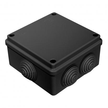 Коробка распределительная 40-0300-9005 для о/п безгалогенная (HF) 100х100х50 (60шт/кор) ЧЕРНАЯ