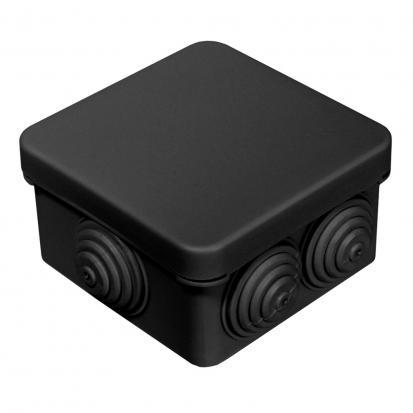 Коробка распределительная 40-0200-9005 для о/п безгалогенная (HF) 70х70х40 (132шт/кор) ЧЕРНАЯ