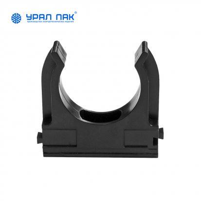 Крепеж-клипса для труб черная d25 мм (100шт/1300шт уп/кор) Урал ПАК