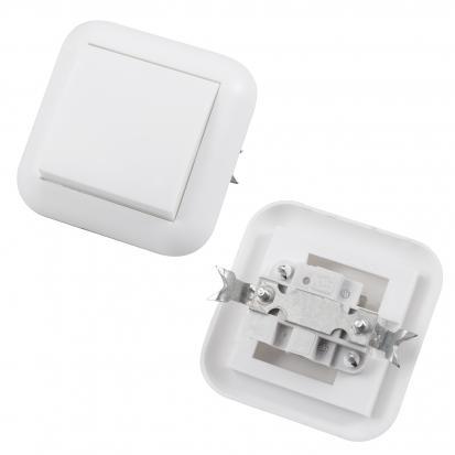 Выключатель 1-клавишный скрытой установки С16-120-Белый 6А, IP20